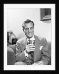 Man with a Glass of Beer by Corbis