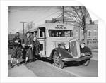 Children Getting Off School Bus by Corbis