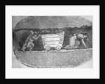 Illustration of Children Working in an English Coal Mine by Corbis