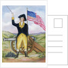 American Revolutionary Patriot at Post by Corbis
