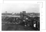 Bird'S Eye View Of The Brooklyn Bridge by Corbis