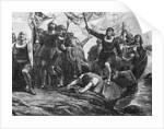 Columbus Landing In America by Corbis