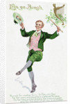 Engraving of St. Patrick's Day Leprechaun by Corbis
