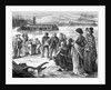 Emigrants Heading West At The River by Corbis