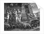 Woodcut of Animals Leaving Noah's Ark by Corbis