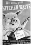 We Want Your Kitchen Waste Poster by Corbis