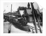 American Railroad Station With Train by Corbis
