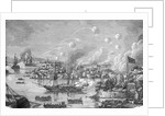 Engraving of the Bombardment of Canton by the English by Corbis