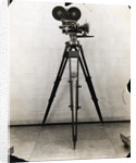 Early Movie Camera on Tripod by Corbis