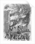 19th-Century Engraving of a Mob Setting Fire to a House by Corbis