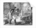Engraving of Gulliver Before the Citizens of Brobdingnag by Corbis