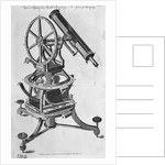 Engraving Of Astronomical Telescope by Corbis