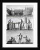 Three Panels Of Fish Industry In 1770 by Corbis