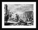 Engraving of Peter The Great Supervising the Building of St. Petersburg by Corbis