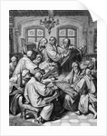 Martin Luther With Colleagues; Engraving by Corbis