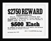 Reward Postrer For Stage Robbers by Corbis