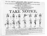 American Revolution Recruiting Poster by Corbis