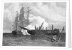 Two Ships In Battle; War Of 1812 by Corbis