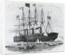Steamship Sailing Amongst Smaller Ships by Corbis