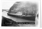 SS Ancon at the Opening of The Panama Canal by Corbis
