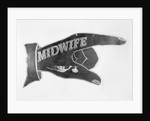 Hand Shaped Sign Advertising for a Midwife by Corbis
