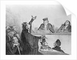 Lithograph Of Court Room Scene by Corbis