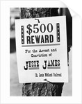 Jesse James Wanted Poster Nailed to Tree Trunk by Corbis