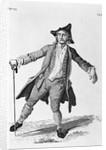 18th Century Engraving Of A Drunken Man by Corbis