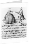 Sheet Music With Illustration by Corbis