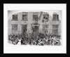 19th-Century Print of Rioters Attacking Brownstones by Corbis