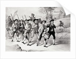 Minute Men on The March Print by Corbis
