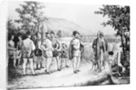 Jacques Cartier's First Meeting with Canadian Indians by Corbis