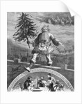 St. Nicholas Carrying Christmas Tree by Corbis