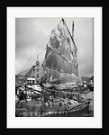 Chinese Junk At Pier by Corbis