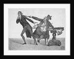 King George Iii Booting William Pitt by Corbis