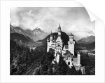 Aerial View Of Castle In Mountains by Corbis