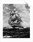Clipper Ship Flying Cloud In Full Sail by Corbis