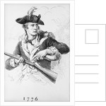 Soldier Of 1776 Filling Gun With Powder by Corbis