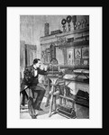 Scientist Looks Into Instrument Eyepiece by Corbis