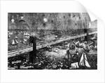 Fireworks Display Over Brooklyn Bridge by Corbis