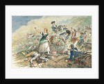 Color Engraving of Molly Pitcher at the Battle of Monmouth by Corbis
