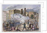 Provost Guards Attacking the Rioters Woodcut Color Print by Corbis