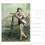 Female Circus Performer With Bicycle by Corbis