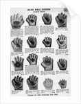 Catalog Page Of Baseball Gloves by Corbis
