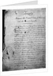 The Louisiana Purchase Treaty; Document by Corbis