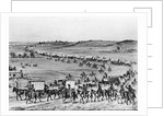First Covered Caravan Of Horses Wagons by Corbis