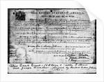 Ohio Land Grant Certificate 1868 Documen by Corbis