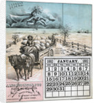 January Page From 1882 Calendar by Corbis