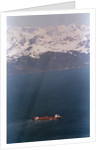 Aerial Of Exxon Valdez & Mountains by Corbis