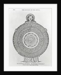 God Figure Holding Disc-Shaped World by Corbis